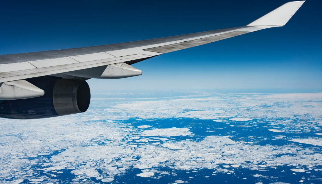 Fly tur-retur Oslo-København slipper ut nok CO2 til å smelte omtrent én kvadratmeter med arktisk sommer-sjøis.