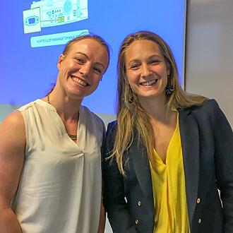 Kethe Engen og Christine Sundgot-Borgen besøkte saman og snakka med ungdom på 30 ulike videregåande skolar i Oslo og Akershus.