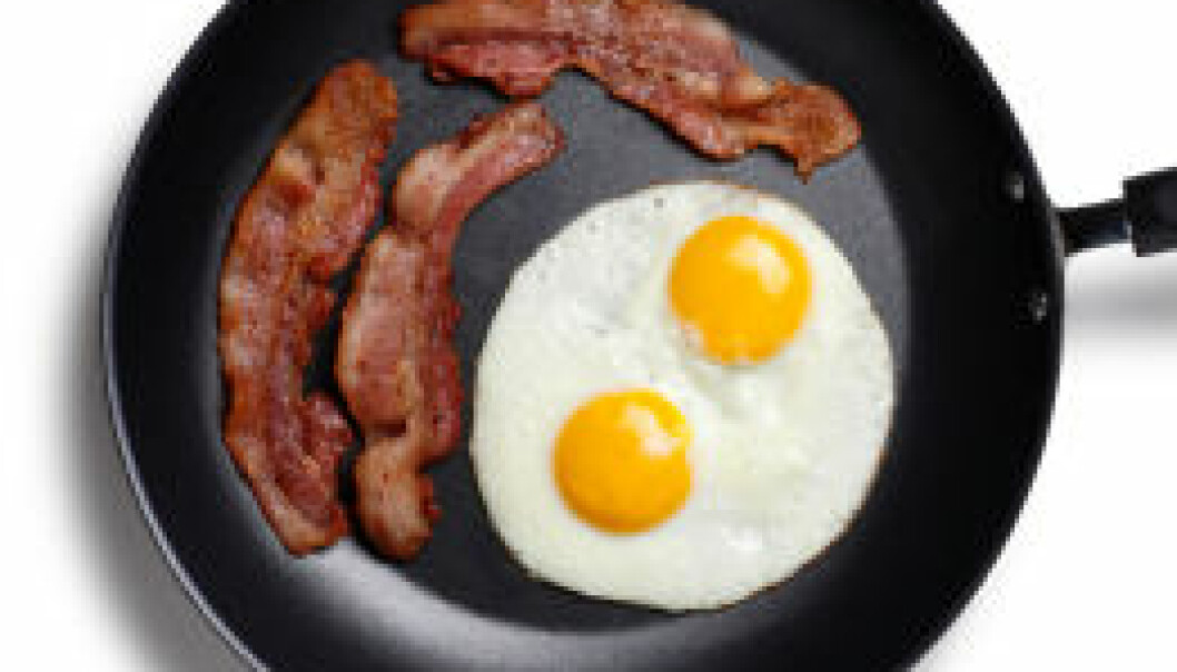 Egg og bacon er bra for gravide