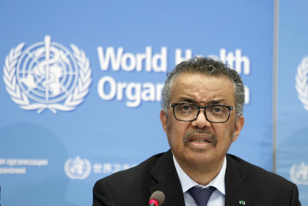 WHOs leder Tedros Adhanom Ghebreyesus erklærte onsdag virusutbruddet for en pandemi.