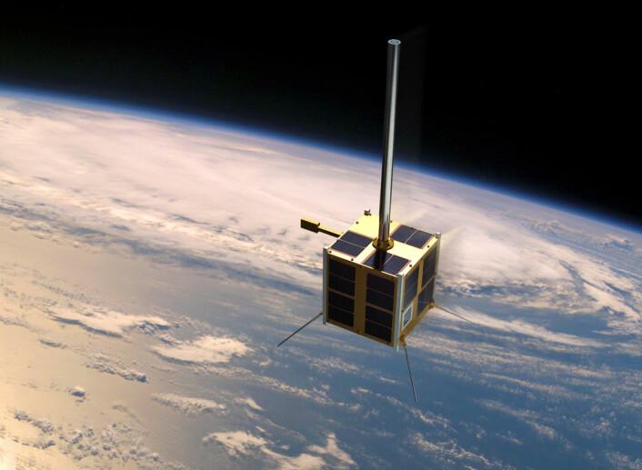 AISSat-1 i bane (Foto: (Illustrasjon: ESA/Norsk romsenter))