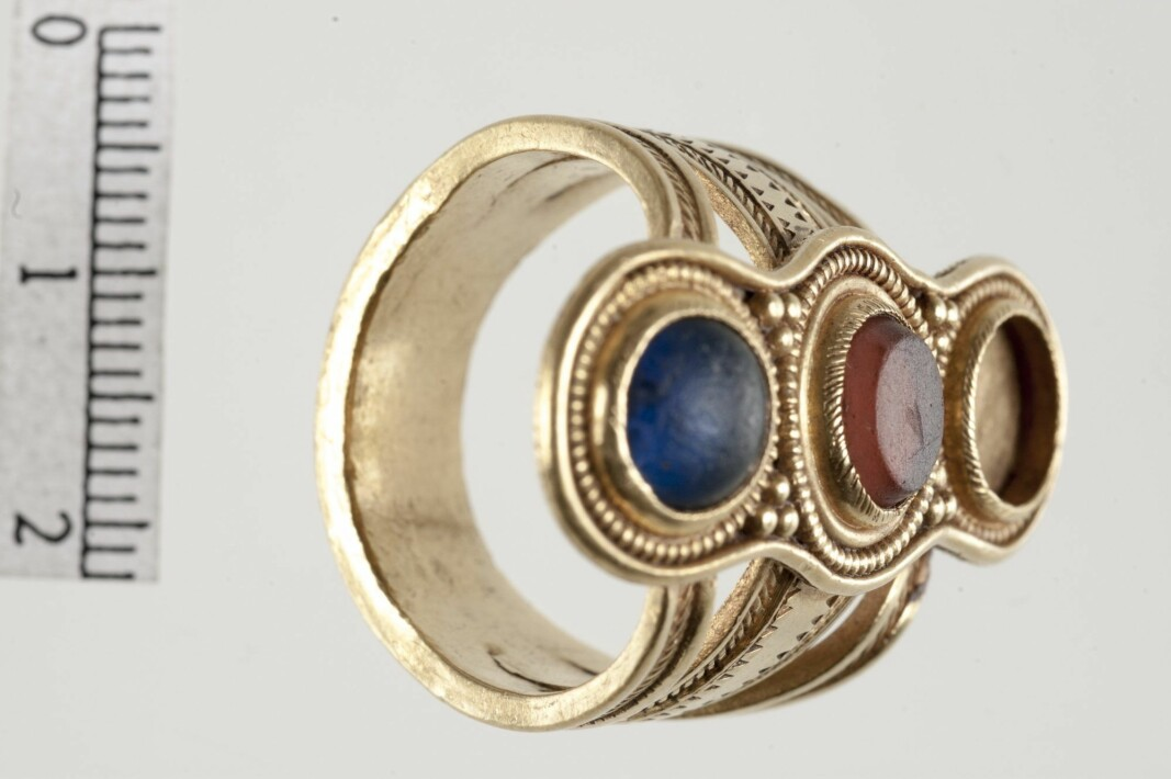 This rare finger ring from the Roman times was found in Sem, outside of Verdal.