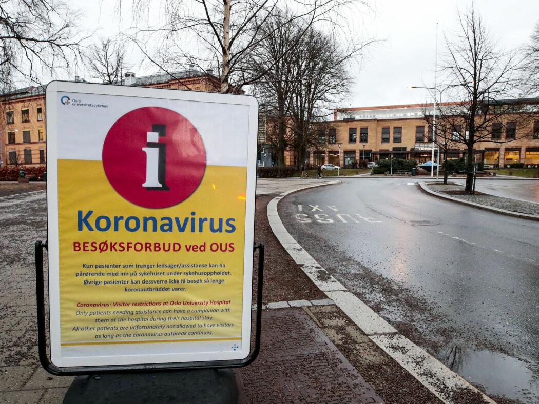 Oslo universitetssykehus, Ullevål sykehus, Koronavirus hindrer folk å besøke pasienter, og har innført besøksforbud ved OUS.