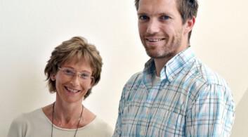 Karin Cecilie Lødrup Carlsen og Håvard Ove Skjerven. (Foto: Ram Gupta, Oslo universitetssykehus)
