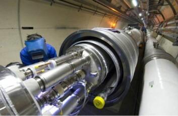 """""""Motiv fra tunnelen til Large Hadron Collider. Foto:CERN)"""""""