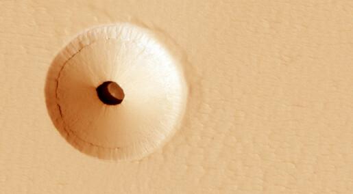 Merkelig hull på Mars
