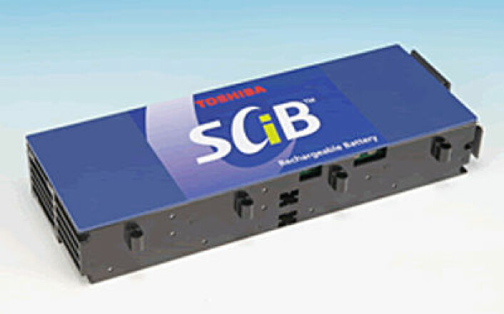 Super Charge Ion Battery (SCiB) fra Toshiba. (Foto: Toshiba/Wikimedia Commons)