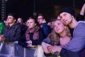 God stemning – med og uten hørselsvern ved scenekanten. (Foto: Thor Nielsen/Sintef)