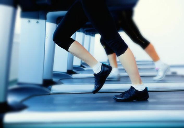 Det er ikke bortkastet å trene, selv i jula, og selv om du legger på deg. (Foto: Colourbox.com)