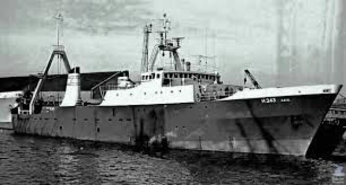 """Den britiske tråleren """"Gaul"""" forsvant utenfor Nordkapp i 1974 med et mannskap på 36. Lenge ble forliset sett på som en gåte. Men mye tyder på at fartøyet ble overrasket av et kraftig polart lavtrykk. Polare lavtrykk kan øke vinden fra bris til storm på mindre enn 10 minutter. Uværet kommer ofte brått på skip og har ført til mange forlis. (Foto: (Bilde: Trawlerphotos))"""