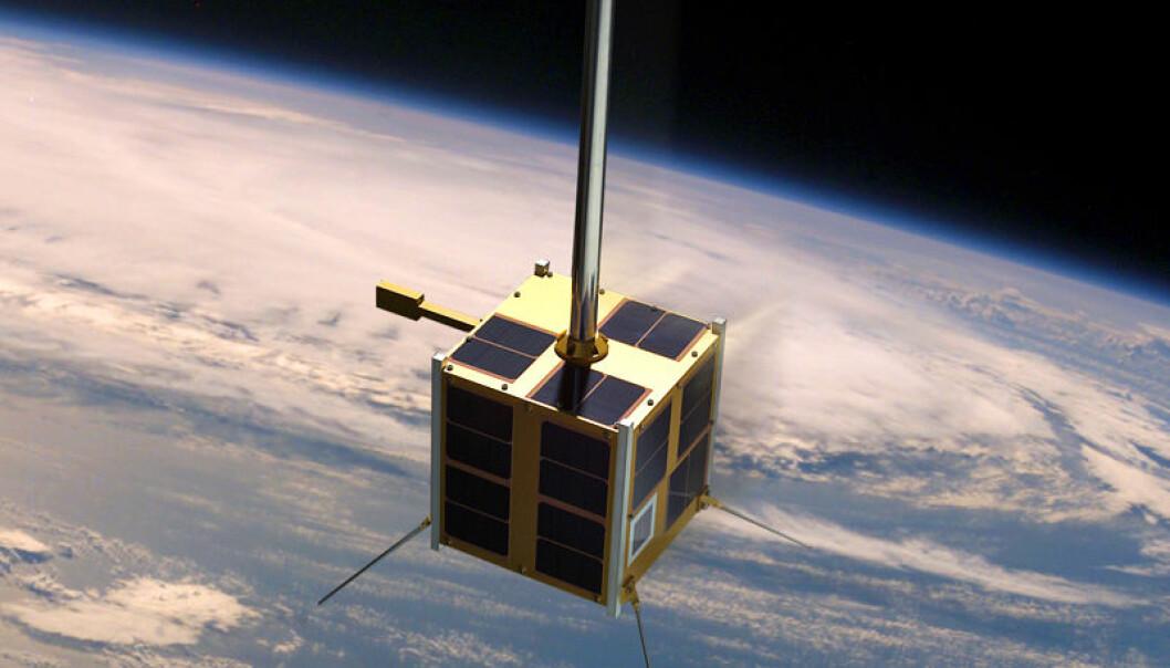 AISSat-1 i bane (Illustrasjon: ESA)