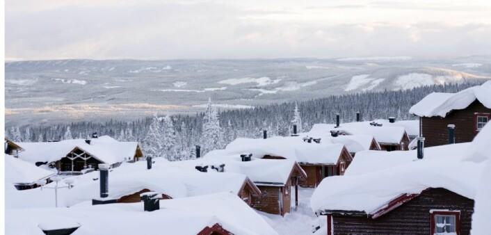 De fleste steder i Norge kan vi i framtiden kanskje bygge enklere når vi skal bygge tak. Kommunene kan redusere kravene til dimensjonering og styrke på takkonstruksjoner. (Illustrasjonsfoto: Colourbox)