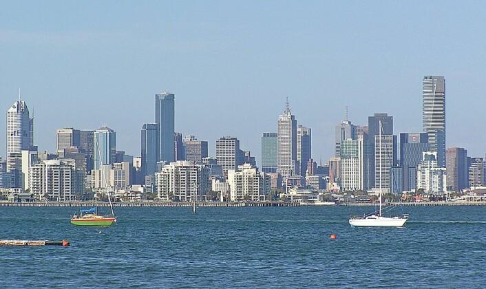 Melbourne havn, som ligger i delstaten Victoria, Australias nest mest befolkede delstat. (Foto: Donaldytong/Wikimedia Commons)