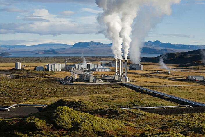 Nesjavellir geotermiske kraftverk i Þingvellir, Island (Foto: Gretar Ívarsson)