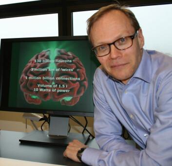 Jan Bjålies forskningsgruppe bidrar i Human Brain Project, hvor målet er å simulere hele hjernen. (Foto: Elin Fugelsnes)