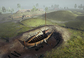 The viking ship at Gjellestad comes to life online