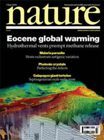 Faksimile: Forsiden på Nature 3.juni 2004.