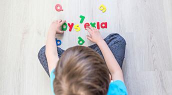 Ny test kan fastslå dysleksi før barna begynner på skolen
