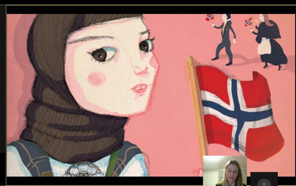 Historisk disputas: Skjermbilde fra disputasen til Ann-Torill Tørrisplass som foregikk over Skype.