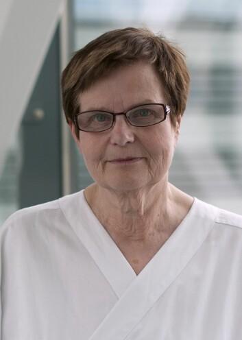 Professor Sophie D. Fosså ved Nasjonalt kompetansesenter for seneffekter etter kreftbehandling. (Foto: Per Marius Didriksen, OUS)