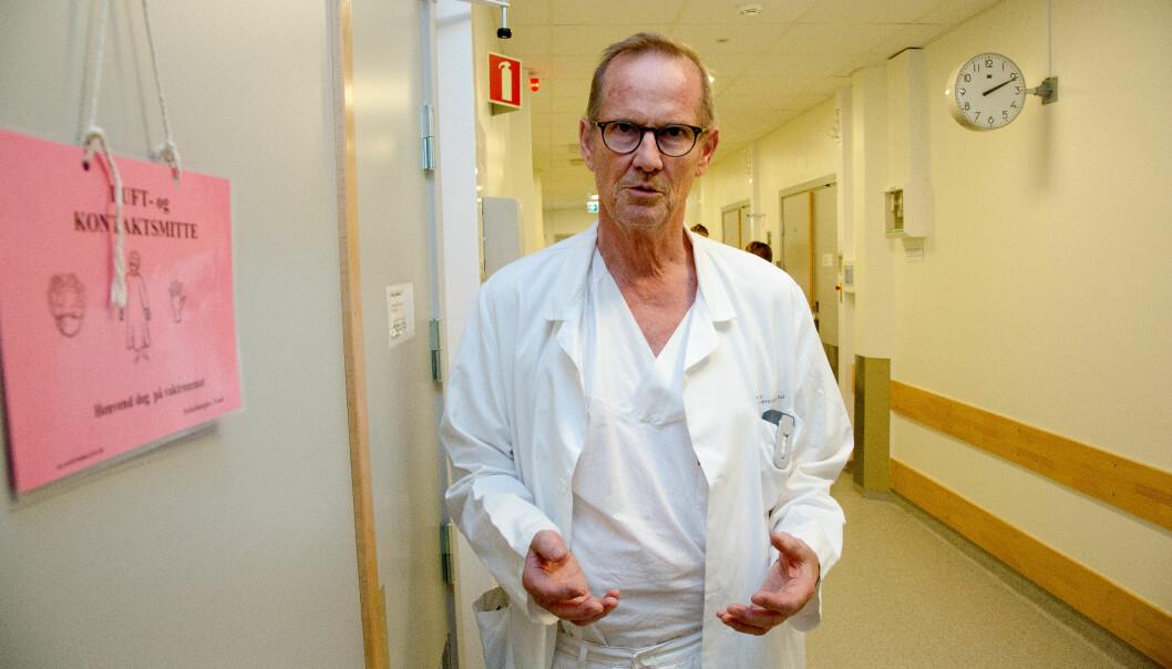 - Norge har mindre problemer med resistente bakterier enn Sør-Europa. Vi håper derfor på færre dødsfall i Norge, poengterer professor Dag Berild.
