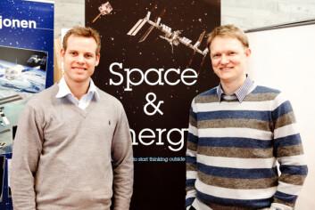Ingeniørstudent og sjef for Mars Institute sin avdeling i Stavanger, Christopher Hoftun, har spurt norsk industri om hvordan man skal bore på Mars. Administrerende direktør Brage W. Johansen i selskapet Zaptec har bidratt med teknologi. (Foto: Morten Berentsen)