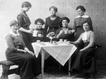 Arbeidskomité gullhaug tuberkulosehjem 1912. (Foto: Magdalena Normann, publisert med tillatelse fra Sør-Troms Museum)