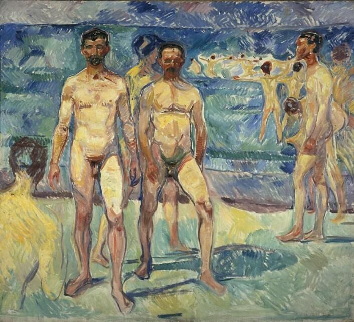 """Badende menn"", 1912-13. (Foto: Munchmuseet)"