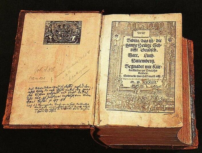 Martin Luthers bibel på tysk, fra 1534. (Foto: (Torsten Schleese/Wikimedia Commons))