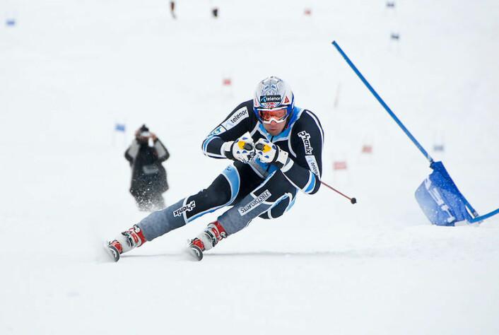 Aksel Lund Svindal på trening i Trysil. I 2007 skadet han seg stygt under utfortrening. Nå vil en idrettsforsker gjøre sporten sikrere. (Foto: Ola Matsson/Wikimedia Commons)