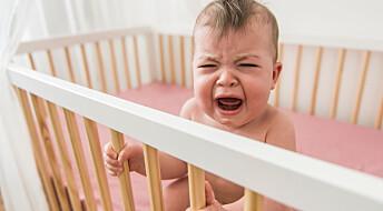 Det er ikke farlig å la babyen gråte uten å få trøst, ifølge ny studie