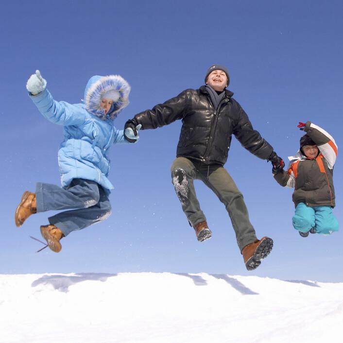 En vinterferie slik som mange ønsker seg, men færre får til. (Illustrasjonsfoto: Colourbox)