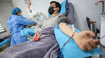 Fem korona-pasienter ble bedre etter å ha fått blodplasma fra friske