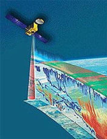 """""""Den europeisk-japanske satellitten EarthCARE vil bidra til bedre forståelse av skyer og strålingsbalansen i atmosfæren. (Ill: ESA)"""""""
