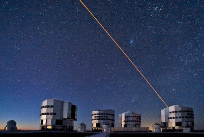 European Southern Observatory sine teleskoper i ørkenen i Paranal i Chile. (Foto: Serge Brunier)