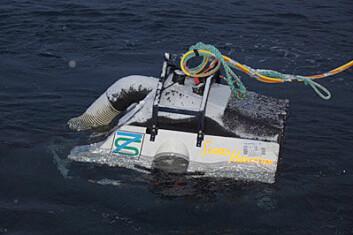 Miniubåten er utviklet av Are Hofstad i selskapet 7S-Technology. (Foto: Philip James/Nofima)