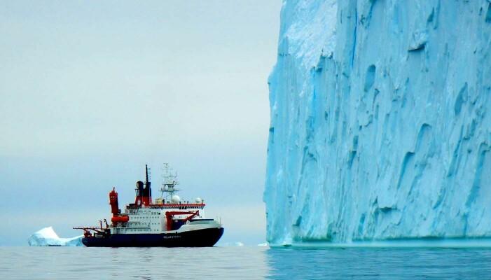 Kontrasten til regnskog kunne ikke vært større: Det tyske forskningsfartøyet Polarstern, på tokt for å finne prøver som kan gi hint om hvordan det så ut på Antarktis i Krittida.