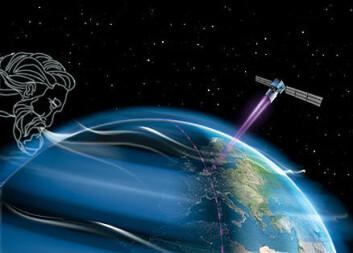 """""""ADM-Aeolus skytes opp i 2009 med en meget avansert laser for å måle vindhastighet og aerosoler i forskjellige høyder. (Ill: ESA)"""""""