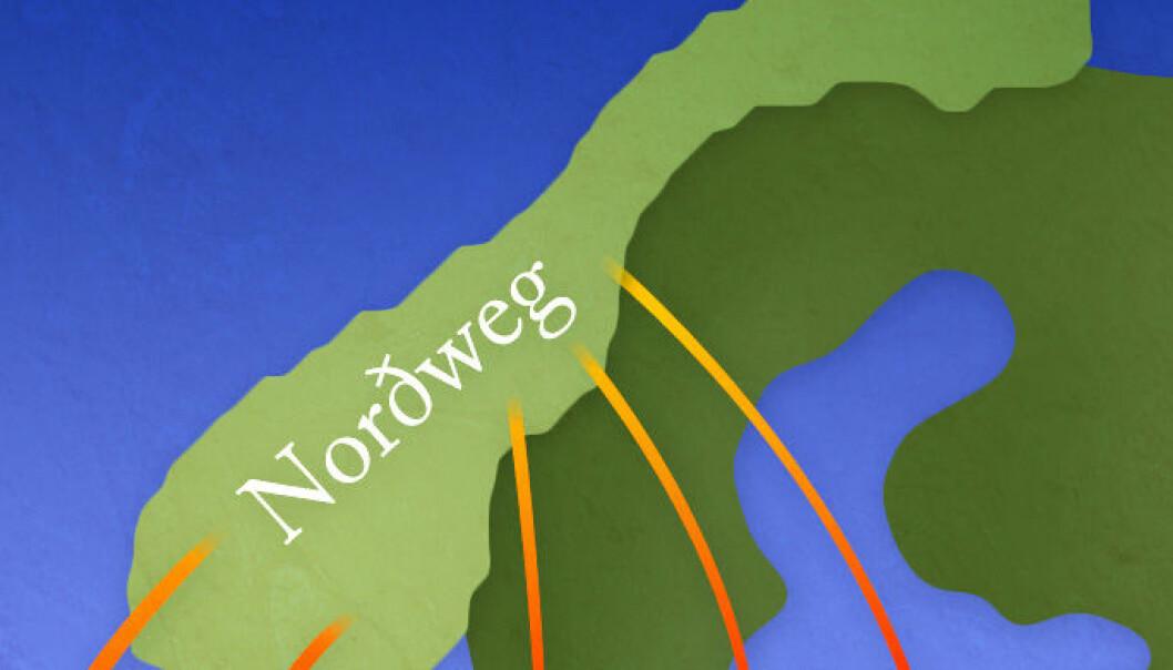 Vegen nordetter eller gjennom tronge sund? (Illustrasjon: Per Byhring)