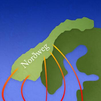 Vegen nordetter eller gjennom tronge sund? (Foto: (Illustrasjon: Per Byhring))