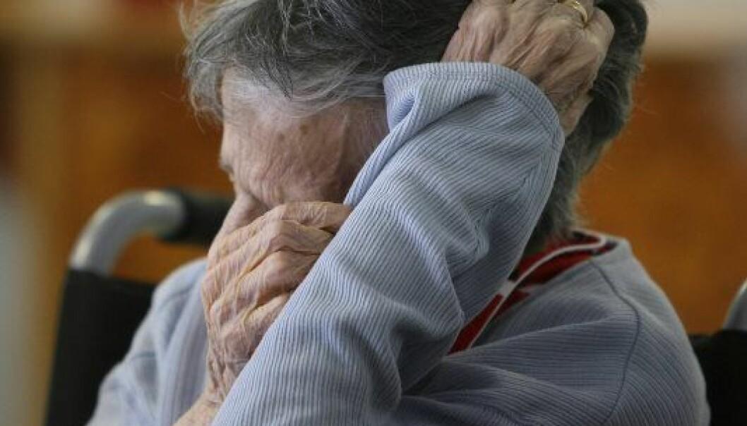 Det er stort sett eldre mennesker som får diagnosen Alzheimer. (Illustrasjonsfoto: Colourbox)