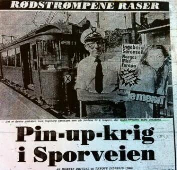 Faksimile av VG-oppslag fra august 1977 om pornokamp på Sporveien.