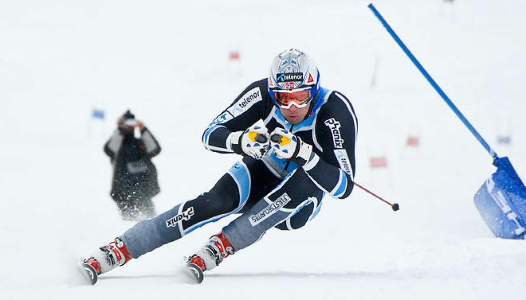Aksel Lund Svindal på trening i Trysil. I 2007 skadet han seg stygt under utfortrening. Nå vil en idrettsforsker gjøre sporten sikrere. Ola Matsson/Wikimedia Commons
