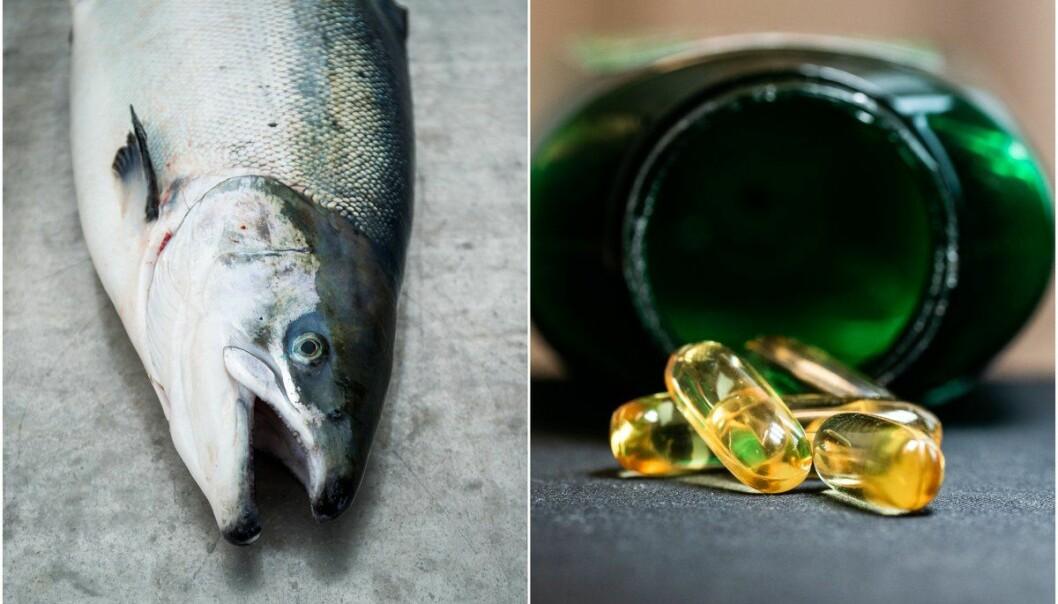 Fet fisk, som laks og makrell, inneholder særlig mye omega 3-fettsyrer.