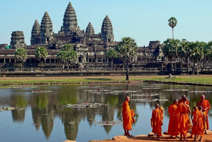 Byggingen av Angkor Wat starta i 1113, omtrent 40 år etter at Nidarosdomen ble påbegynt. (Foto: Wikimedia commons)