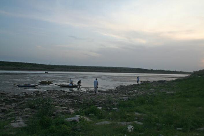 Mangel på vann er Indias akilleshæl. Elva Krishna renner gjennom flere delstater i den sentrale delen av landet. (Foto: Asle Rønning)