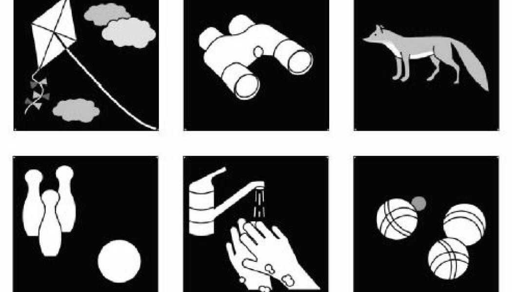 Piktogrammer kan brukes som visuell støtte i en dagsplan. Disse piktogrammene er hentet fra www.pictoselector.eu