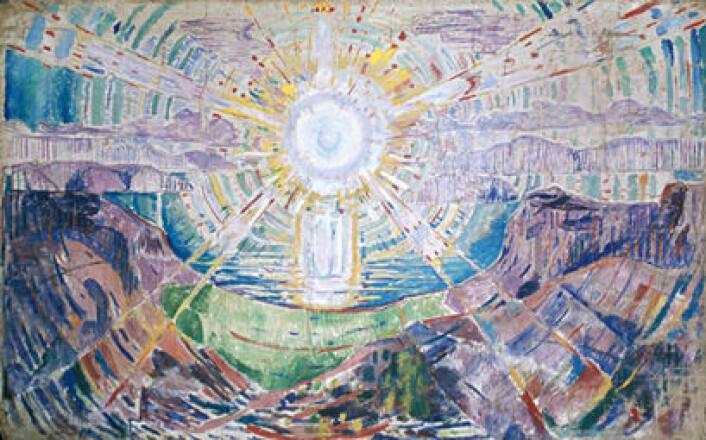 Munch var opptatt av solens livgivende stråler. Foto: Munch-museet / Munch-Ellingsen Gruppen / BONO, Oslo 2014)