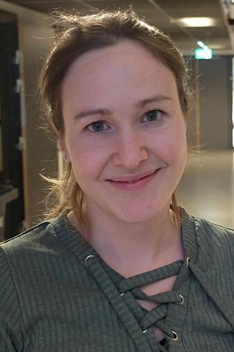 Kristin Bergum uten maske og lab-antrekk.