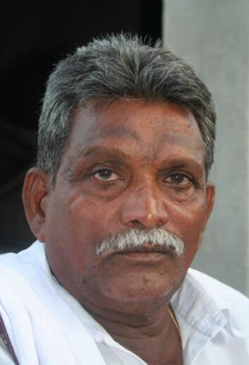 K. Venkateswarulu dyrker bomull og chili. (Foto: Asle Rønning)